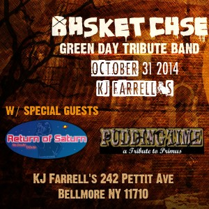 Green Day Triubte Band Halloween Night October 31 2014 at KJ Farrell's in Bellmore NY